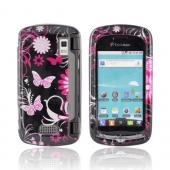 LG Genesis VS760 Hard Case - Pink Flowers &amp; Butterflies on Black