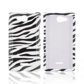 LG Lucid 4G Hard Case - Black/ White Zebra