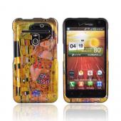 LG Revolution, LG Esteem Hard Case - The Kiss on Yellow/ Orange