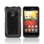 LG Revolution, LG Esteem Hard Case - Silver Lines on Black