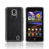 LG Spectrum Hard Back Case w/ Aluminum Back &amp; Clear Bumper - Black
