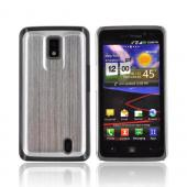 LG Spectrum Hard Back Case w/ Aluminum Back &amp; Clear Bumper - Silver