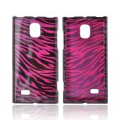 LG Optimus VS930 (Optimus LTE II) Hard Case - Purple/ Black Zebra