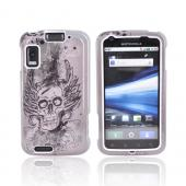 Motorola Atrix 4G Hard Case - Skull Vintage on Gray