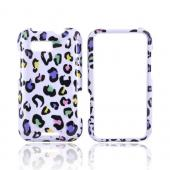 Motorola Defy Hard Case - Colorful Leopard on White