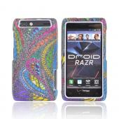 Motorola Droid RAZR Hard Case - Jamaican Fabric w/ Silver Sparkle