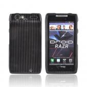 Motorola Droid RAZR Hard Case - Silver Lines on Black