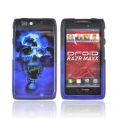 Motorola Droid RAZR MAXX Hard Case - Blue Skull