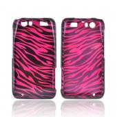 Motorola Atrix HD Hard Case - Purple/ Black Zebra