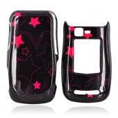 Motorola Quantico W845 Hard Case - Pink Stars on Black