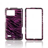 Motorola Droid Bionic XT875 Hard Case - Purple/ Black Zebra