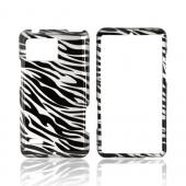 Motorola Droid Bionic XT875 Hard Case - Silver/ Black Zebra