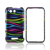 Motorola Photon Q 4G LTE Hard Case - Rainbow Zebra on Black