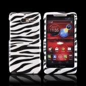 Motorola Droid RAZR M Hard Case - Black/ White Zebra