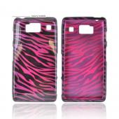 Motorola Droid RAZR HD Hard Case - Purple/ Black Zebra