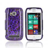 Nokia Lumia 710 Hard Case - Black/ Purple Leopard