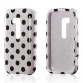 Black Polka Dots on White Hard Case for Nokia Lumia 822