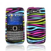 Nokia Mode E73 Hard Case - Colorful Zebra on Black