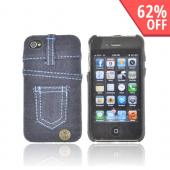 AT&amp;T/ Verizon Apple iPhone 4, iPhone 4S Hard Case - Blue Jeans