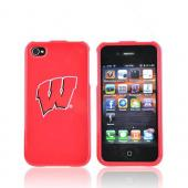 NCAA Licensed Apple Verizon/ AT&T iPhone 4, iPhone 4S Hard Case - Wisconsin Badgers