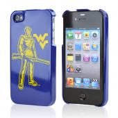 NCAA Licensed Apple Verizon/ AT&T iPhone 4, iPhone 4S Hard Case - West Virginia Mountaineers
