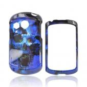 Pantech Swift Hard Case - Blue Skull