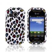 Pantech Crossover P8000 Hard Case - Rainbow Leopard on White