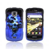 Samsung Droid Charge Hard Case - Blue Skull