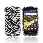 Samsung Droid Charge Hard Case - Black Zebra on Silver