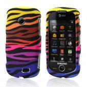 Samsung Solstice II A817 Hard Case - Rainbow Zebra on Black