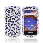 Samsung Epic 4G Hard Case - Colorful Leopard on White