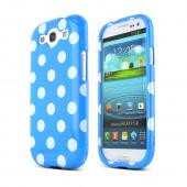 Samsung Galaxy S3 Hard Case - White Polka Dots on Blue