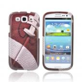 Samsung Galaxy S3 Hard Case - Brown/ White Football