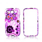 Samsung Galaxy S3 Hard Case - Purple/ Pink Retro Flower