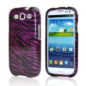 Samsung Galaxy S3 Hard Case - Purple/ Black Zebra