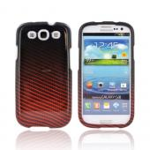 Samsung Galaxy S3 Hard Case - Red/ Black Carbon Fiber
