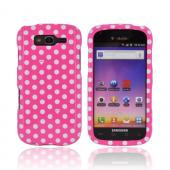 Samsung Galaxy S Blaze 4G Hard Case - Hot Pink/ White Polka Dots