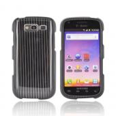 Samsung Galaxy S Blaze 4G Hard Case - Silver Lines on Black