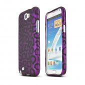 Samsung Galaxy Note Hard Case - Purple/ Black Leopard