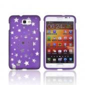 Samsung Galaxy Note Hard Case - Clear Stars on Purple