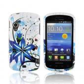 Samsung Stratosphere i405 Hard Case - Blue Flower Splash on White