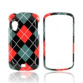 Samsung Stratosphere i405 Hard Case - Red/ Black/ Gray Argyle