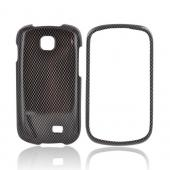 Samsung Galaxy Appeal Hard Case - Black/ Gray Carbon Fiber