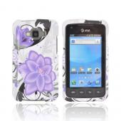 Samsung Rugby Smart i847 Hard Case - Purple Lily on White