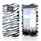 AT&amp;T Samsung Galaxy S2 Hard Case - Black/ Silver Zebra
