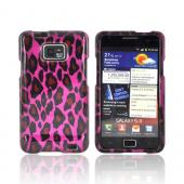 AT&T Samsung Galaxy S2 Hard Case - Hot Pink/ Black Leopard