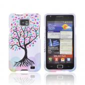 AT&amp;T Samsung Galaxy S2 Hard Case - Black Tree w/ Multi-Colored Hearts on White