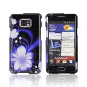 AT&amp;T Samsung Galaxy S2 Hard Case - Purple Flowers on Black