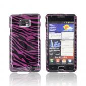 AT&amp;T Samsung Galaxy S2 Hard Case - Purple/ Black Zebra