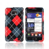 AT&amp;T Samsung Galaxy S2 Hard Case - Red/ Gray/ Black Argyle